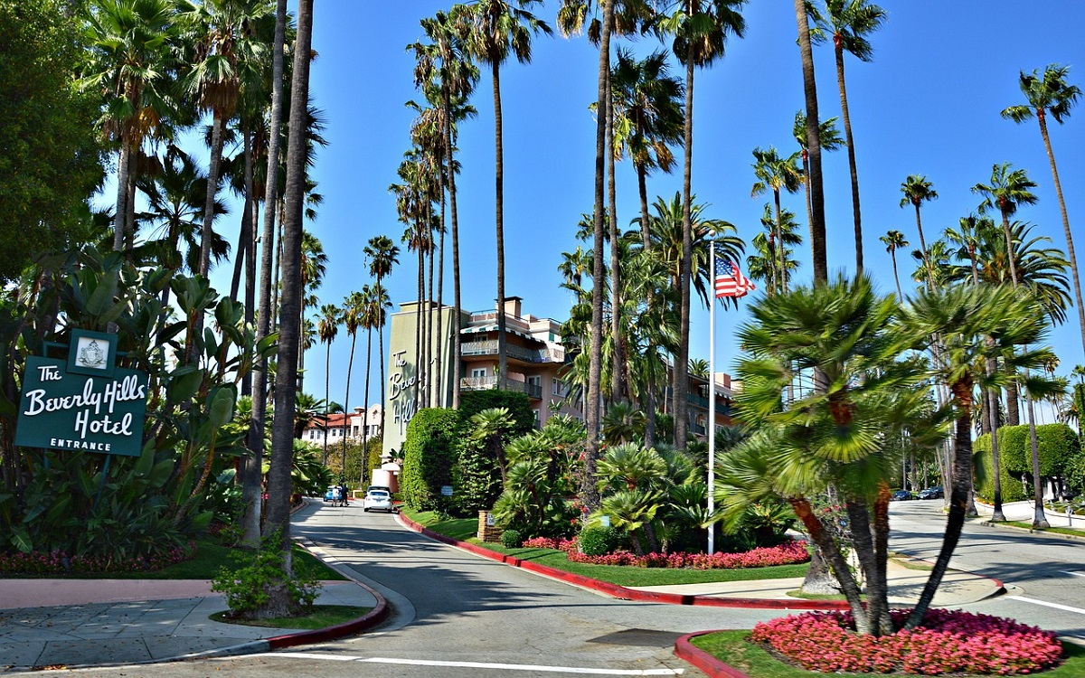 Eingang des Beverly Hills Hotels