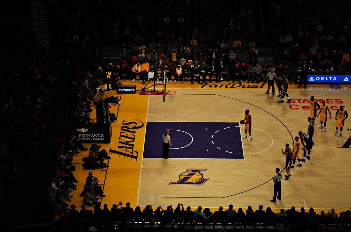 Spiel der LA Lakers im Staple Center Los Angeles